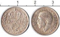 Изображение Монеты Великобритания 3 пенса 1917 Серебро XF Георг V.