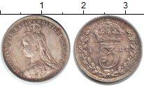 Изображение Монеты Великобритания 3 пенса 1887 Серебро XF Виктория