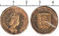 Изображение Монеты Остров Джерси 1/4 шиллинга 1966 Медь UNC Елизавета II.