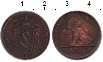 Изображение Монеты Бельгия 2 сантима 1863 Медь  Леопольд.