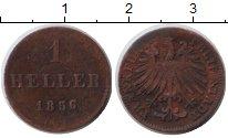 Изображение Монеты Франкфурт 1 геллер 1856 Медь VF
