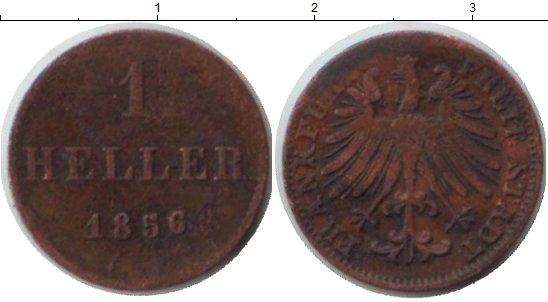 Картинка Монеты Франкфурт 1 геллер Медь 1856