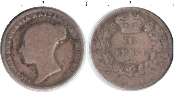 Картинка Монеты Великобритания 6 пенсов Серебро 0