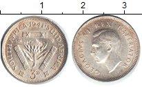 Изображение Монеты ЮАР 3 пенса 1941 Серебро XF Георг VI.
