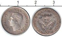Изображение Монеты ЮАР 3 пенса 1942 Серебро