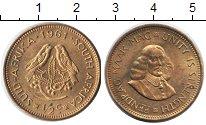 Изображение Монеты ЮАР 1/2 цента 1961 Медь UNC-