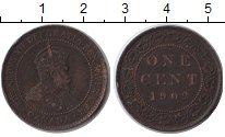 Изображение Монеты Канада 1 цент 1902 Медь XF