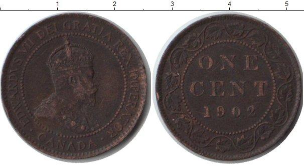 Картинка Монеты Канада 1 цент Медь 1902