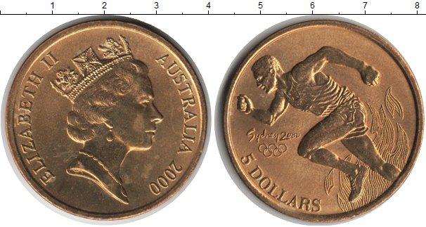 Картинка Монеты Австралия 5 долларов  2000
