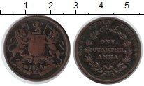 Изображение Монеты Индия 1/4 анны 1835 Медь