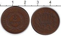 Изображение Монеты США 2 цента 0 Медь VF