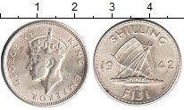 Изображение Монеты Фиджи 1 шиллинг 1942 Серебро XF Георг VI. Лодка