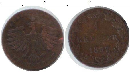 Картинка Монеты Франкфурт 1 крейцер Медь 1857