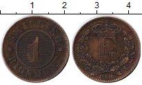 Изображение Монеты Дания 1 скиллинг 1860 Медь XF Фредерик VII.