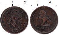 Изображение Монеты Бельгия 2 сантима 1835 Медь  Леопольд.