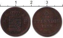 Изображение Монеты Германия Саксония 2 пфеннига 1859 Медь VF
