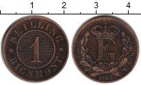 Изображение Монеты Дания 1 скиллинг 1863 Медь XF