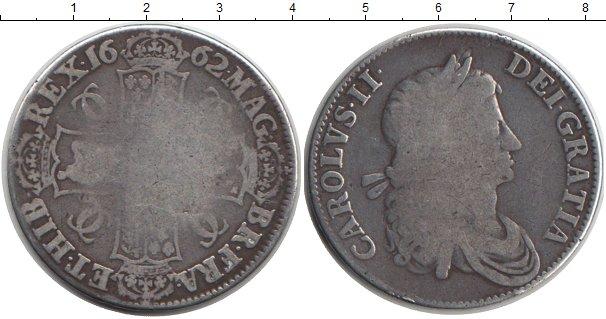 Картинка Монеты Великобритания 1 крона Серебро 1662