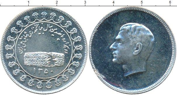 Картинка Монеты Иран Монетовидный жетон Серебро 1350