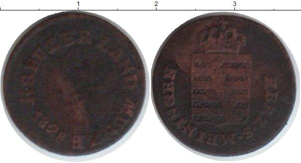 Картинка Монеты Саксен-Майнинген 1/4 крейцера Медь 1828