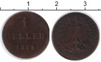 Изображение Монеты Франкфурт 1 геллер 1854 Медь VF