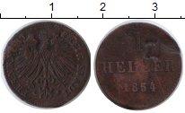 Изображение Монеты Франкфурт 1 геллер 1854 Медь