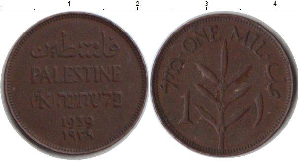 Картинка Монеты Палестина 1 мил Медь 1939