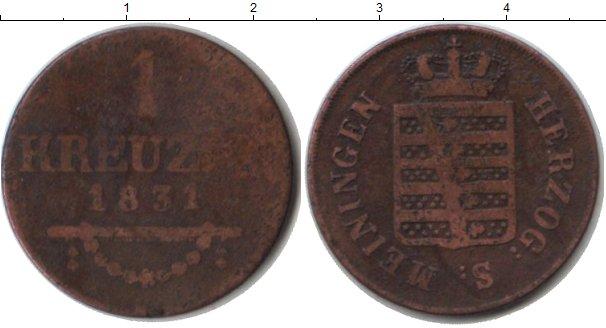 Картинка Монеты Саксен-Майнинген 1 крейцер Медь 1831