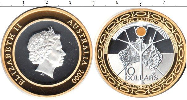 Картинка Монеты Австралия 10 долларов Серебро 2000