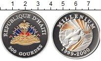 Изображение Монеты Гаити 500 гурдес 1999 Серебро UNC- Миллениум 2000. Голу