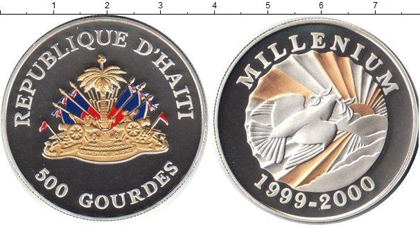 Картинка Монеты Гаити 500 гурдес Серебро 1999