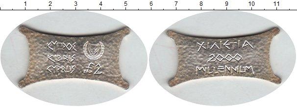 Картинка Монеты Кипр 2 фунта Серебро 2000