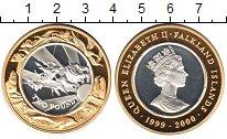Изображение Монеты Фолклендские острова 2 доллара 2000 Биметалл Proof- Елизавета II. Животн