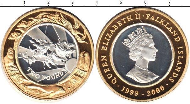 Картинка Монеты Фолклендские острова 2 доллара Биметалл 2000
