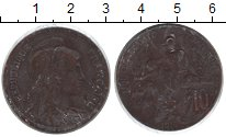 Изображение Монеты Франция 10 сантим 1916 Медь VF