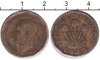 Изображение Монеты Великобритания 3 пенса 1942  VF