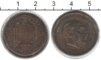 Изображение Монеты Испания 2 1/2 песеты 1953  VF Франко