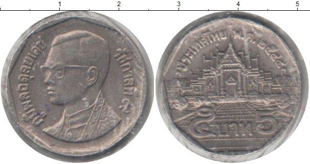 Монета таиланда 5 бат 1 доллар канада