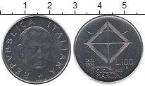 Изображение Мелочь Италия 100 лир 1974 Медно-никель UNC-