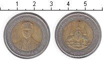 Изображение Монеты Таиланд 10 бат 0 Биметалл VF Рама IX
