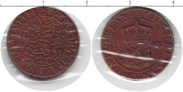 Картинка Монеты Нидерландская Индия 1/2 цента Медь 1945