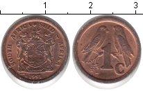 Изображение Мелочь ЮАР 1 цент 1991 Медь XF