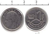 Изображение Монеты Бельгия 1 франк 1990 Медно-никель XF