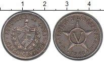 Изображение Монеты Куба 5 сентаво 1961 Медно-никель VF