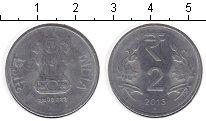 Изображение Монеты Индия 2 рупии 2013 Медно-никель UNC-