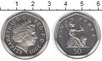 Изображение Монеты Великобритания 50 пенсов 2001 Медно-никель UNC-