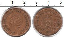 Изображение Монеты Антильские острова 1 гульден 1989  XF
