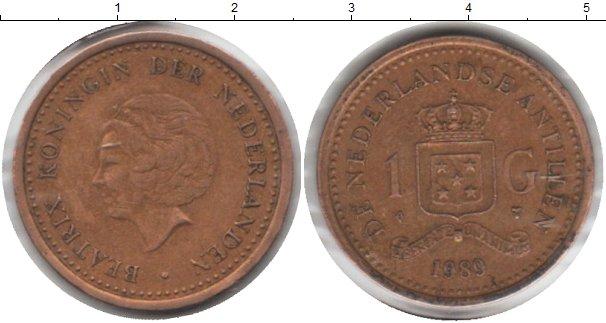 Картинка Монеты Антильские острова 1 гульден  1989