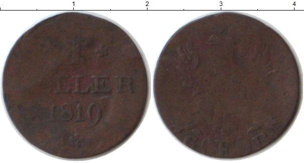 Картинка Монеты Франфуркт 1 геллер Медь 1819