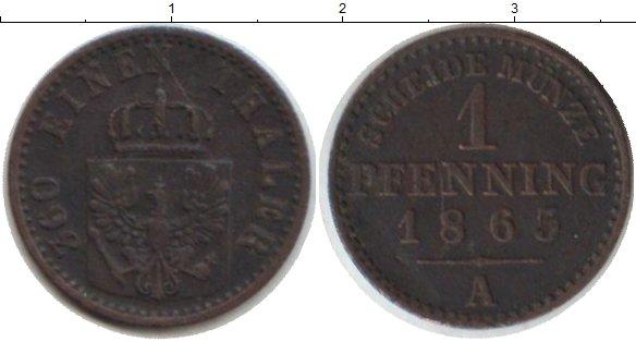 Картинка Монеты Пруссия 1 пфенниг Медь 1865